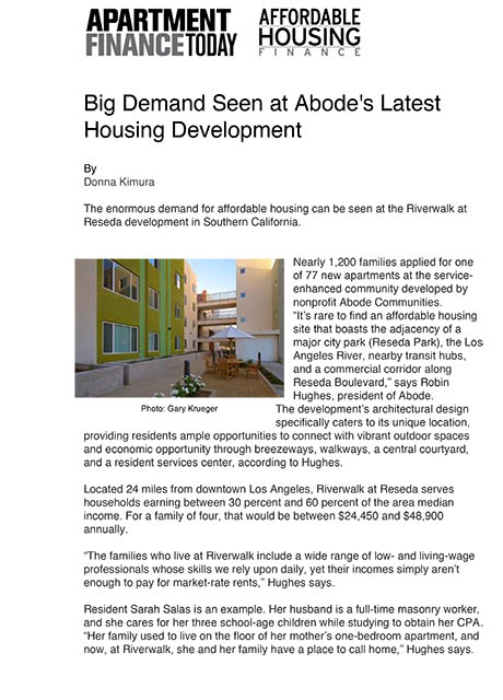 Affordable Housing Finance 2014